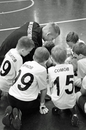 Команда / Предматчевая установка на детском турнире по футболу