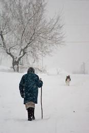 Дорогу осилит идущий / зима, дорога, идущий