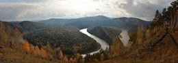 Еще раз о Петле / Манская петля в осеннем золоте, поселок Манский, окрестности Красноярска