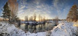 На излучине реки.. / Нижегородская область, окрестности деревни Молостово, река Кеза, ноябрь 2017 года