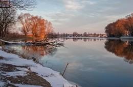 ноябрьское утро / река казанка