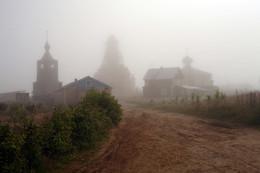 Варзуга. Утро. / Русский Север.