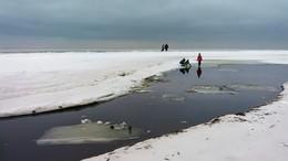 / Серые будни января 2018... Финский залив, п.Репино