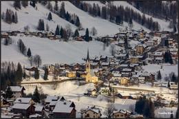 Зимний этюд. / Альпийская деревня.