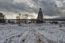 Русские пейзажи / январь 2018 г., Селигер, Ширков Погост, церковь Рождества Иоанна Предтечи