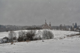 идут белые снеги... / январь 2018 г., Селигер, исток Волги, Ольгин монастырь,Спасо-Преображенский Собор.