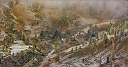 Горными тропами. / Доломитовые Альпы,панорама из двух кадров.