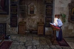 Молебен в Александровском подворье / Церковь Святого Александра Невского, Иерусалим, 2017г.