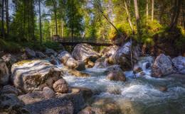 Бурный поток / Снято по пути в городок Рамсау с озера Хинтерзее через Волшебный лес. Альпы, Верхняя Бавария. http://www.youtube.com/watch?v=zucBfXpCA6s