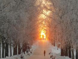 Зимний восход / Восход 24 февраля 2018 года в Великом Новгороде