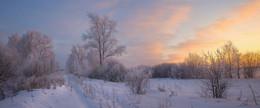 Зимний вечер / Морозный зимний вечер