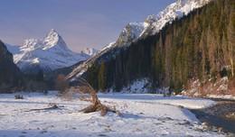 Зимний рассвет / В горах,вершина Белалакая