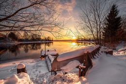 Закат на Волге / Пено, Тверская область