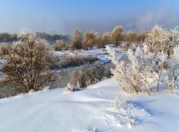 Морозный январь / Иртыш, минус 37.