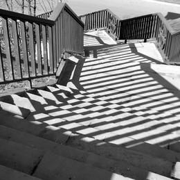 Уход от привычного стиля / Лестница на Щукинском мосту
