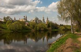 Торжок. Вид на Борисоглебский мужской монастырь. / ***