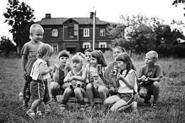 на футбольном поле / дети вишневой улицы