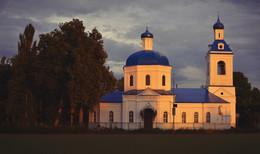 «На закате» / Церковь Покрова Пресвятой Богородицы в закатном солнце