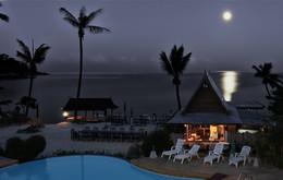 ночное затишье / Ночной пляж на Маврикие