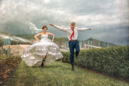 Под летним дождем / г. Сочи, Олимпийский парк