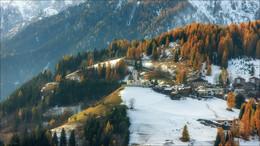 Первый снег / Хутор Санта Лучия,Доломитовые Альпы.