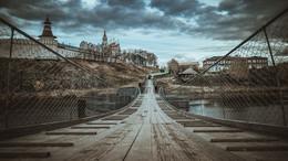 Подвесной мост через реку Тура / Верхотурье (Урал)