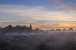 Туман на вспаханном поле. / Рассветы осени.