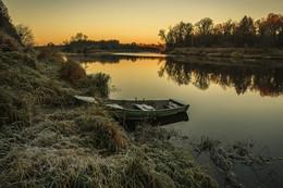Осеннее утро на Клязьме / Осеннее утро на Клязьме. Небольшой морозец для конца октября.