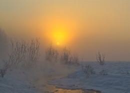 Зимний восход / Сибирь, Тува, Тоджа