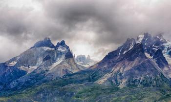 Голубые скалы / Национальный парк Torres del Paine (Голубые скалы), Чили.