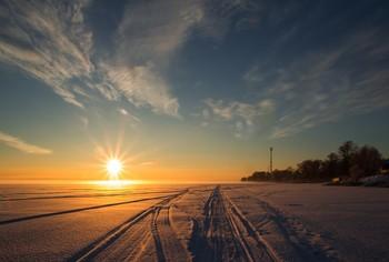 зимний закат / ***