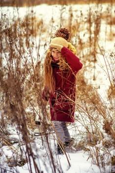 Тропинками зимы / модель Ангелина Табакова причёска Ирина Харитонова