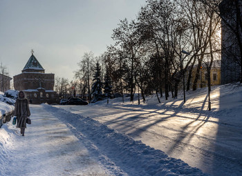 Немного о зиме / Зимний день в нижегородском кремле