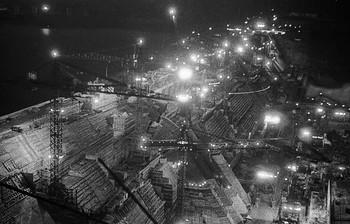 Строительство Красноярской ГЭС / 1967 г. Пленка 35 мм. Скан с пленки.