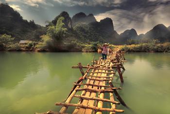 Вьетнам. Уборка риса. / Большинство вьетнамских людей живут очень скромно, кто-то в сараях, а кто-то в небольших домиках, а рядом, сразу за дверями, находится то, что не позволяет им умереть с голода- рисовые плантации.   https://mikhaliuk.com/China-Phototour-Journey-Landscapes-of-Guilin/