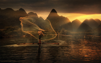 Ловец Света / Фототур во Вьетнам в мае. Время посева риса на плантациях. https://mikhaliuk.com/China-Phototour-Journey-Landscapes-of-Guilin/