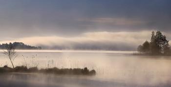 ..плывущие в облаках.. / май,озеро,утро