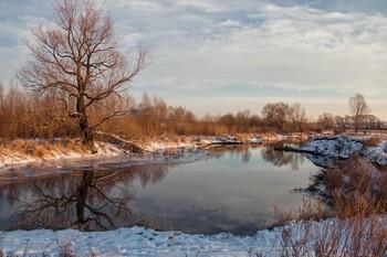 Утренняя тишина / Протока,впадающая в р.Казанка.Пригород Казани
