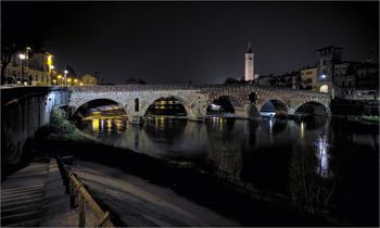 Ночная Верона. / Верона. Италия.
