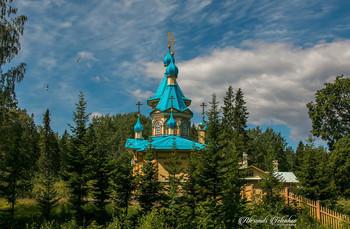 Церковь Успения Пресвятой Богородицы в Гефсиманском скиту Валаамского монастыря. / ***
