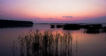 Закат на озере. / Красноярский край г.Железногорск