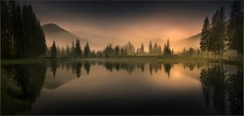 Без названия / Abends an einen kleinen Teich in Hohentauern Steiermark in Österreich