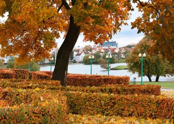 Осень в городе / На берегу реки Свислочь открывается великолепная панорама на Минск