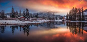 / Morgens an einen kleinen Teich in der Steiermark.