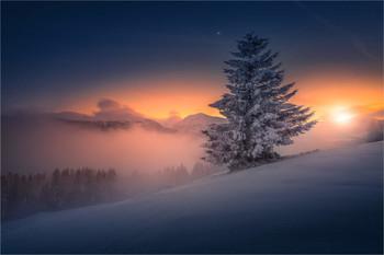 / Abends in den Seetaler alpen in der Steiermark