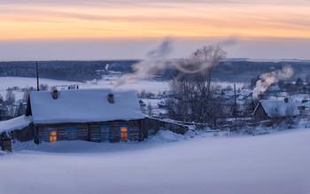 Навалило снега по самые окна / Январь в селе Всехсвятское.