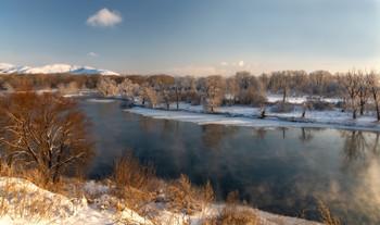 Зимний вечер / Протока Иртыша