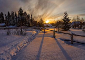 Вечерняя... / Зима в Вологодской области...