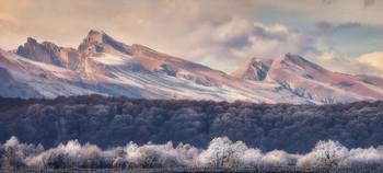 Морозное утро в Дигории. / Северная Осетия-Алания.