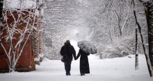 а снег все шел... / моя любимая работа... по настроению...